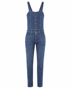 Push In Secret Glamour Denim Dungarees With Clips