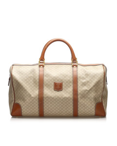 Celine Macadam Duffel Bag Brown