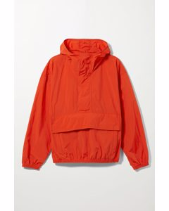 Sean Nylon Anorak Blood Orange