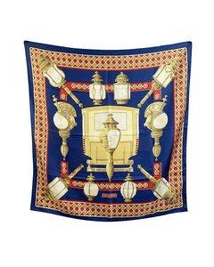 Hermes Paris Vintage Silk Scarf Feux De Route 1971 Caty Latham