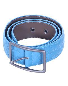 Intrecciato Nappa Belt In Blue