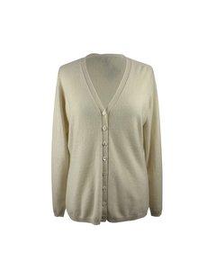 Duca Di Valtorta Vintage Ivory Cashmere Knit Cardigan Size Xl