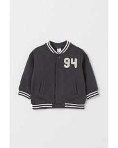 Baseballjacka I Bomull Mörkgrå/94