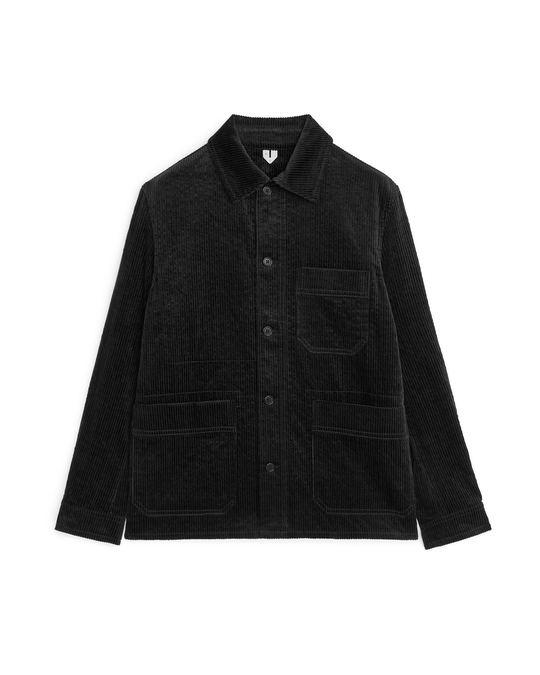 Arket Corduroy Overshirt Black