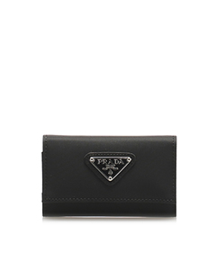 Prada Tessuto Key Holder Black