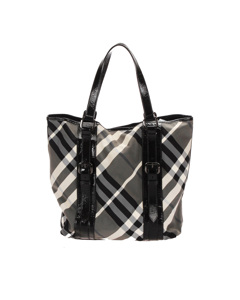 Burberry Supernova Check Tote Bag Black