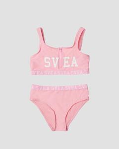 K. Sporty Zip Bikini Pink