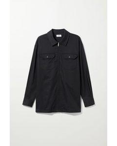 Dennis Oversized Overshirt Black