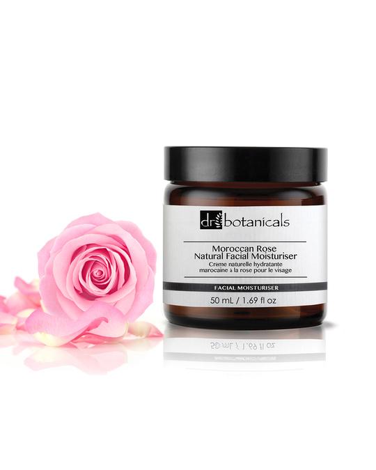 Dr Botanicals Moroccan Rose Natural Facial Moisturiser Clear