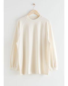 Voluminous Faded Wash Top White