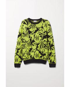 Johan Smiley Warp Sweater Black