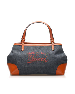 Gucci Craft Denim Tote Bag Blue