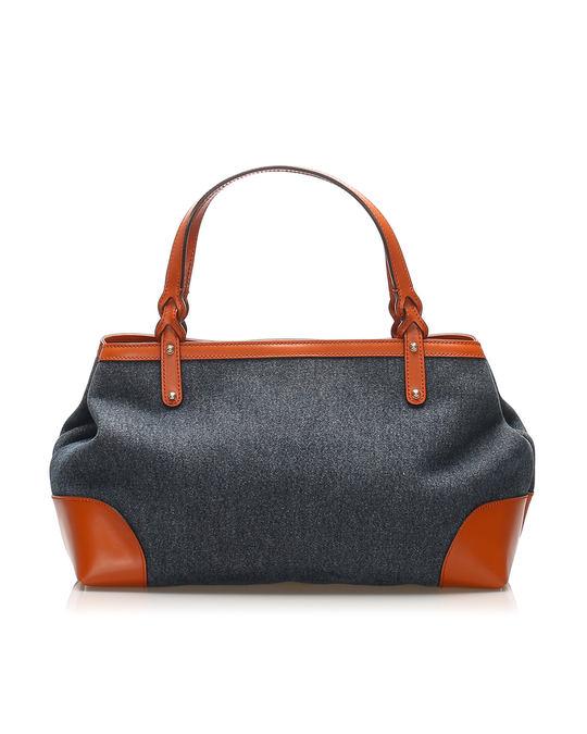 Gucci Gucci Craft Denim Tote Bag Blue