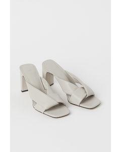 Slip In-sandaletter Ljus Gråbeige