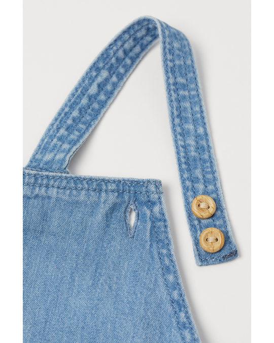 H&M Denim Dungaree Shorts Denim Blue