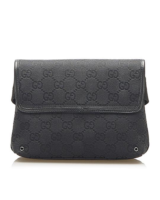 Gucci Gucci Gg Canvas Jackie Belt Bag Black