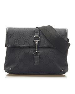 Gucci Gg Canvas Jackie Belt Bag Black