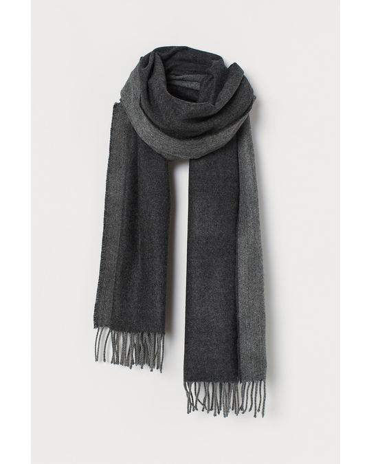 H&M Scarf Dark grey