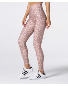 Full Print Beige Snake Highwaist Leggings