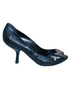 Black Heels With Butterflies