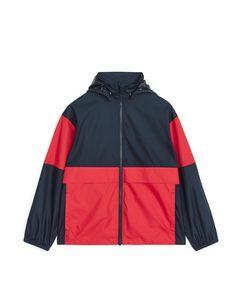 Colour-blocked Windbreaker Jacket Dark Blue/red