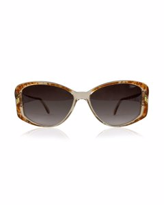Galileo Vintage Brown Clear Sunglasses Pld 03 56/16 Made In Italy