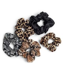 5-pack Scrunchies Assorted Animal Print  Multi