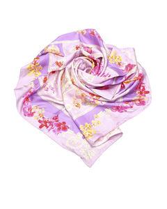 Versace Printed Silk Scarf Purple