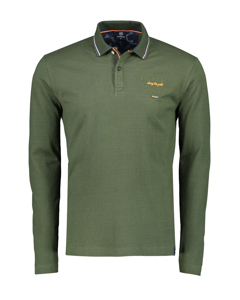 Langarm Poloshirt Mit Frontprint