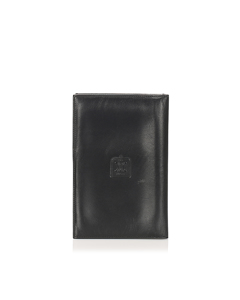 Celine Triomphe Leather Passport Cover Black