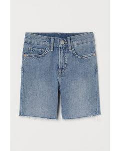 Comfort Stretch Denim Shorts Hellblau