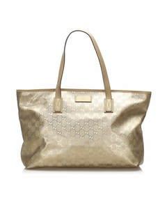 Gucci Gg Imprime Tote Bag Gold