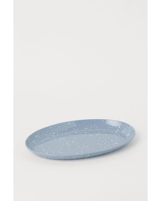 H&M HOME Vorlegeplatte aus Metall Hellblau