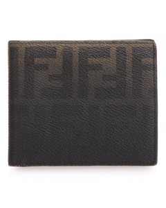 Fendi Zucca Coated Canvas Small Wallet Black