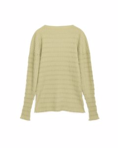 Textured Wide-neck Jumper Dusty Yellow