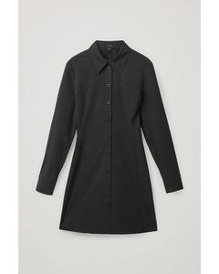 Tailored Shirt Dress Black