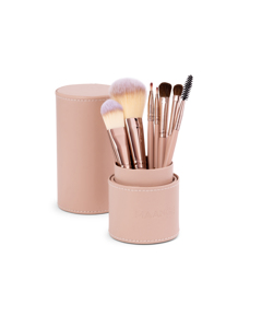 7pk Makeup Brush, Cylindric Case