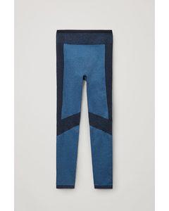 Seamless Performance Leggings Blue / Navy