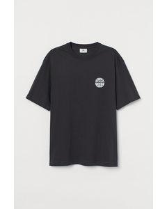 T-shirt - Relaxed Fit Zwart/humans