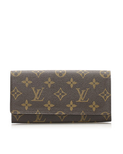 Louis Vuitton Monogram Porto Long Wallet Brown
