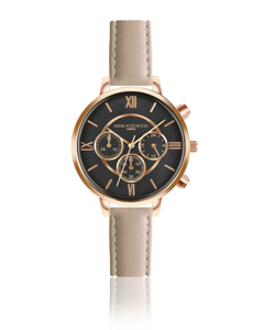Ivy Chronograph Light Cream Coffee Watch