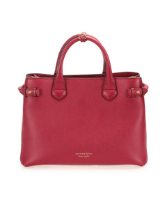 Burberry Banner Leather Satchel Red