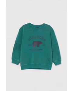 Sweatshirt Med Tryck Petrol/hike More