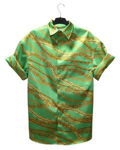 Green Balenciaga Gris Cement Chains Shirt