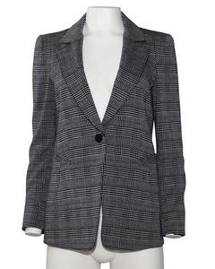Grey Wool Plaid Blazer