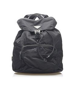 Prada Tessuto Drawstring Backpack Black