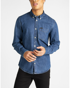 Lee Button Down Dipped Blue