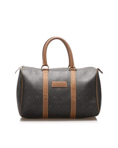 Dior Honeycomb Boston Bag Brown