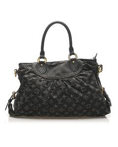 Louis Vuitton Monogram Denim Neo Cabby Mm Black