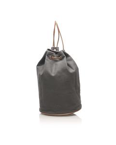 Hermes Polochon Mimile Canvas Backpack Gray